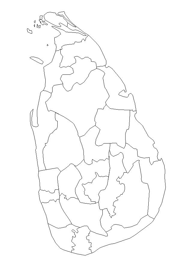 mapa sri lanka para colorear