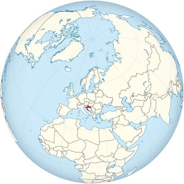 croacia mapamundi globo terraqueo