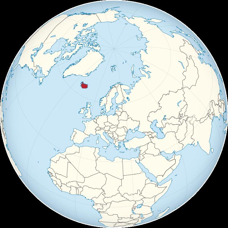 islandia mapamundi globo terraqueo