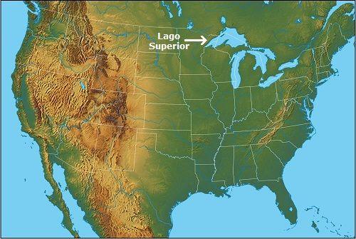 lago superior mapa estados unidos mas grande del mundo
