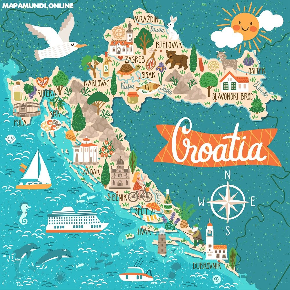 mapa turistico croacia lugares de interes