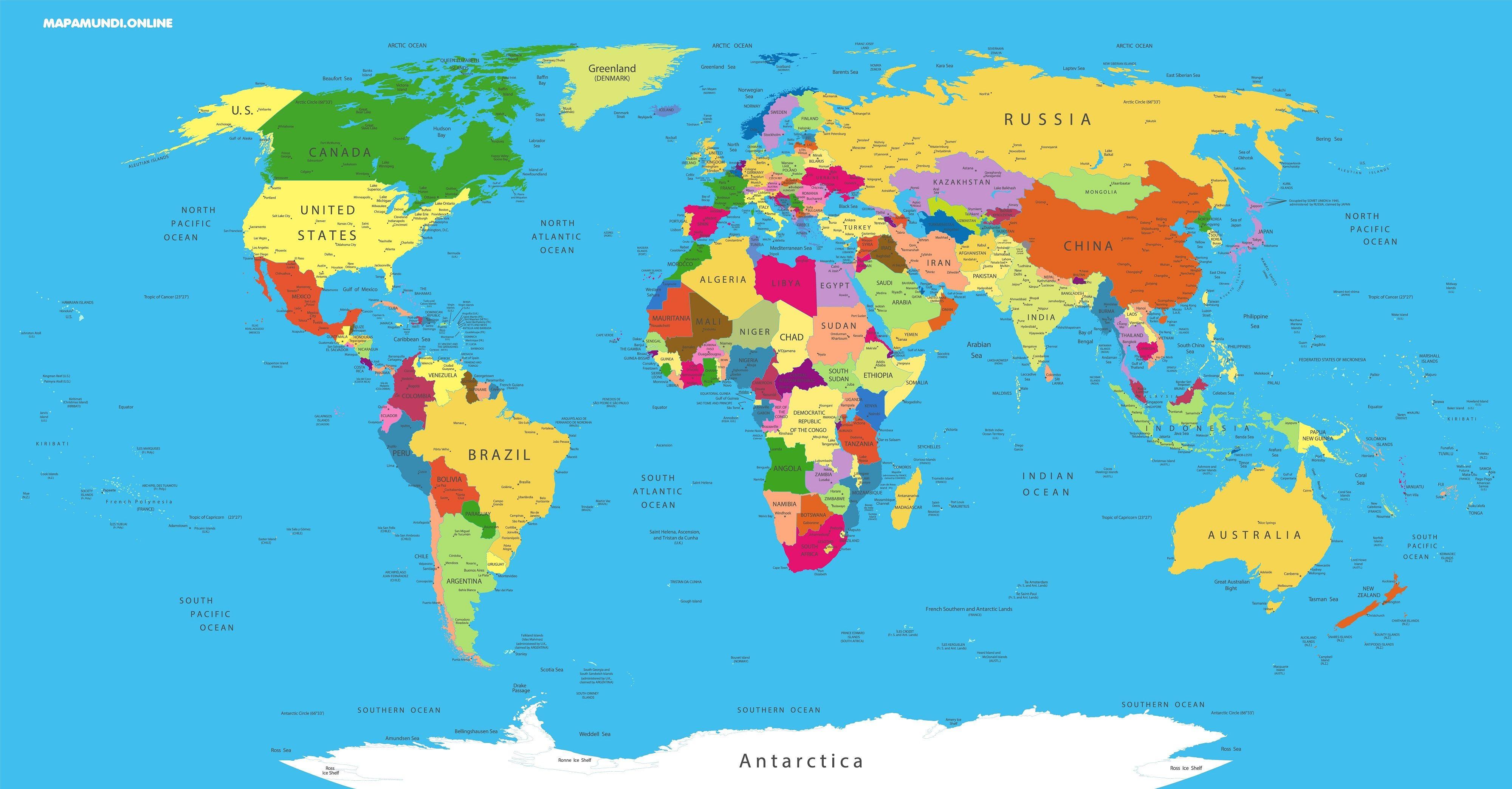 Mapa Del Mundo Paises Para Imprimir.Mapas Del Mundo 2019 Mas De 200 Imagenes Para Imprimir