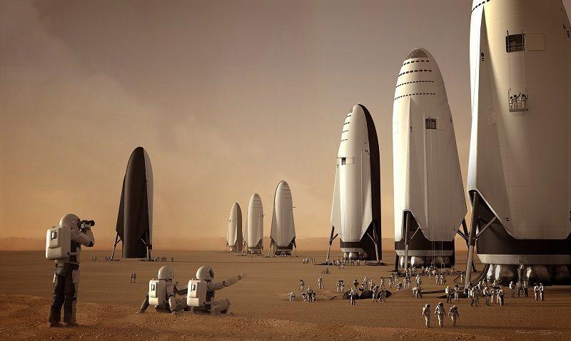mision estadounidense a marte spacex