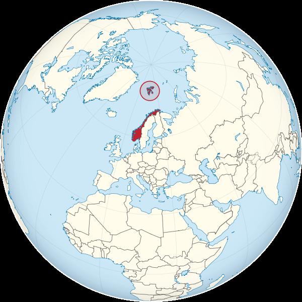 mapa mundi noruega