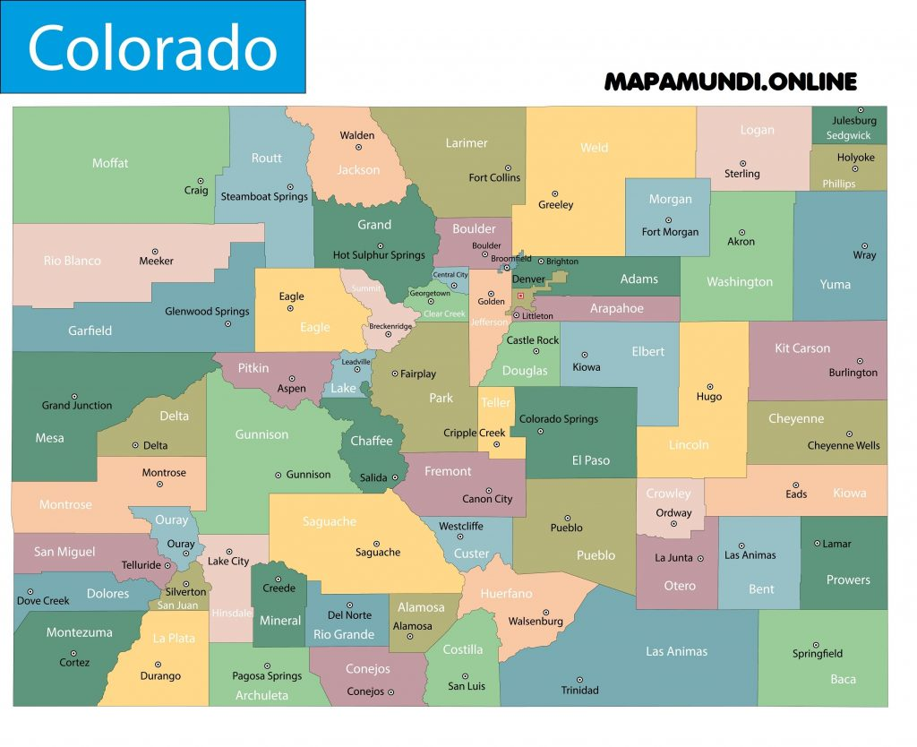 mapa colorado