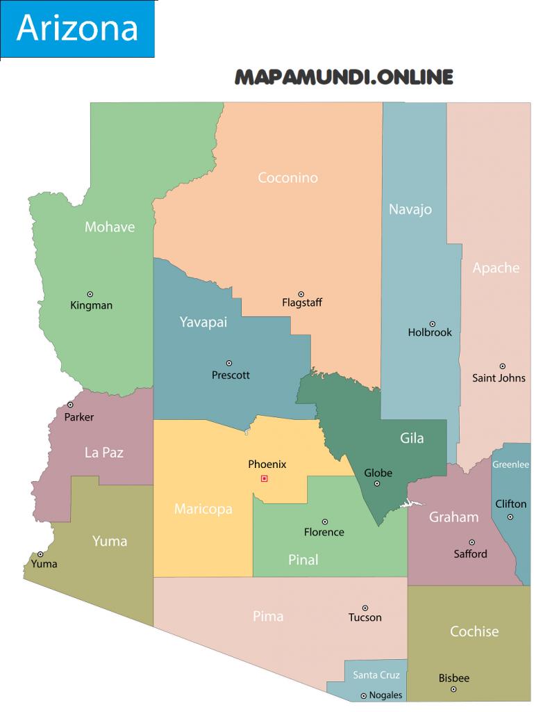 mapa arizona