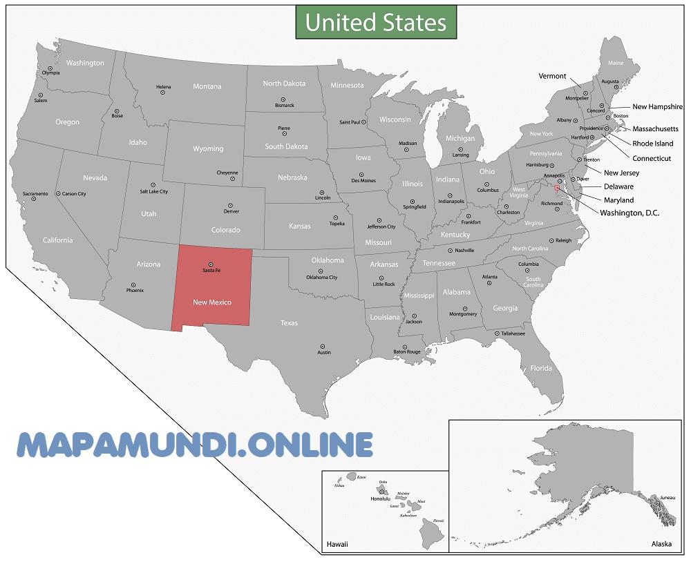mapa nuevo mexico eeuu