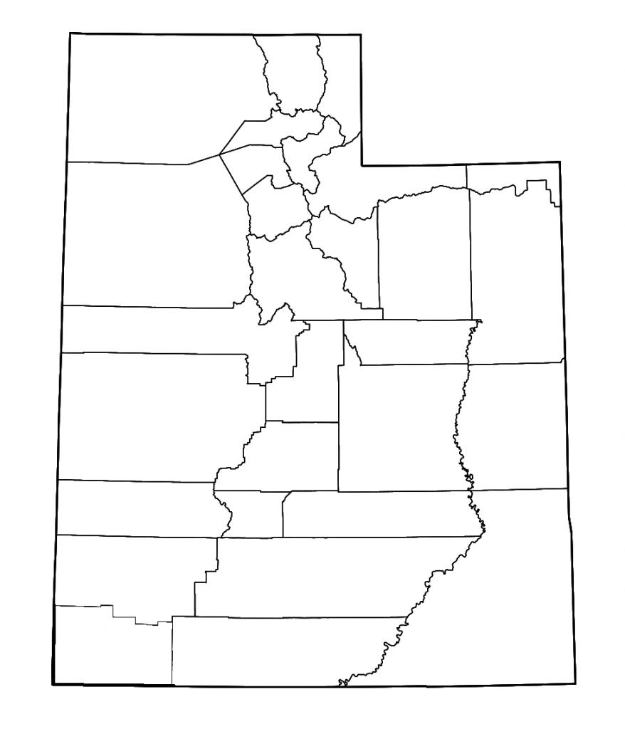mapa utah blanco para colorear