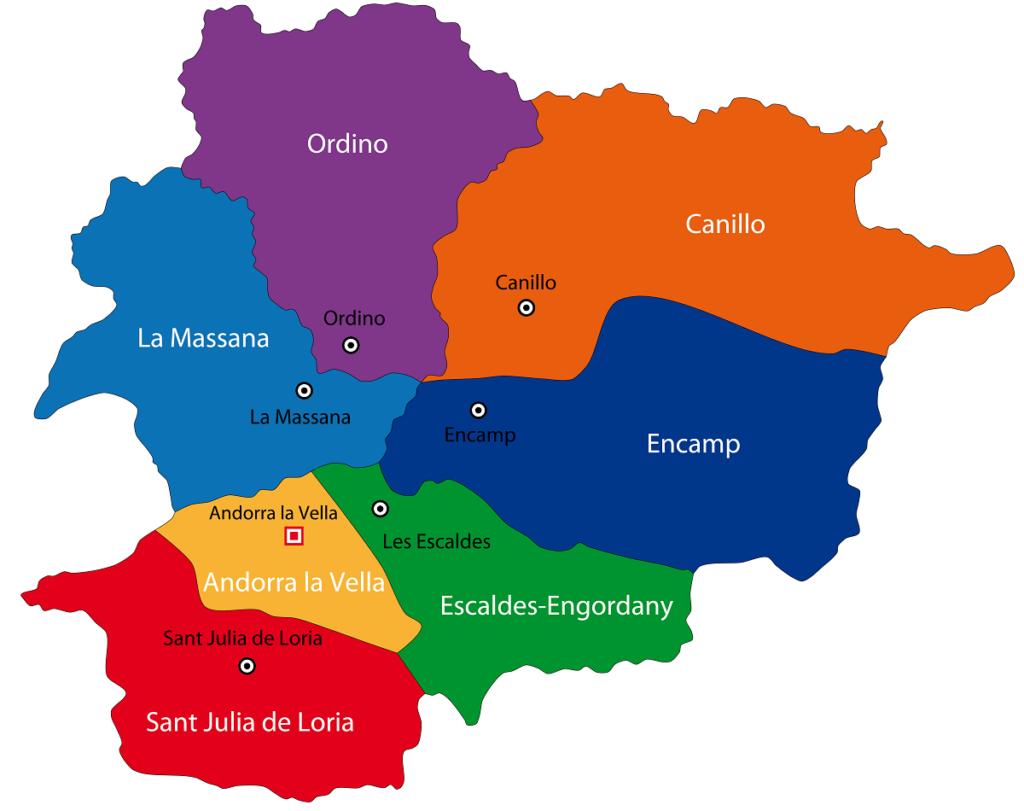 mapa andorra politico