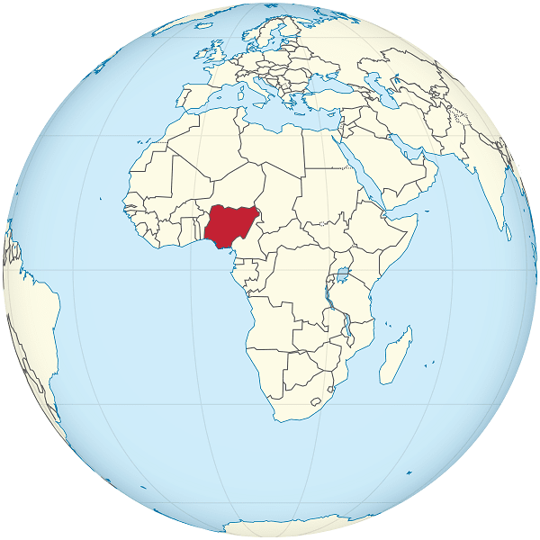 nigeria mapamundi